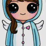 Chica con pijama de unicornio kawaii