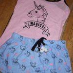 Pijama de unicornio short